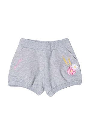 Grey shorts with application Monnalisa kids Monnalisa kids | 30 | 397416RE70010032