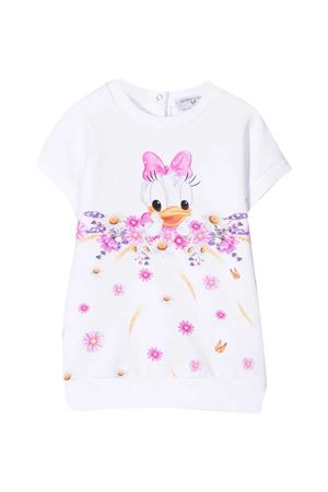 White dress with print Monnalisa kids Monnalisa kids | 11 | 397911PG70010099