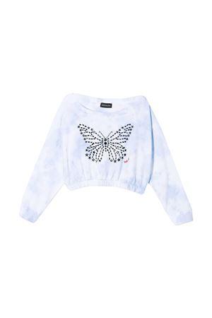 White sweatshirt with print Monnalisa kids Monnalisa kids | -108764232 | 49760170500058
