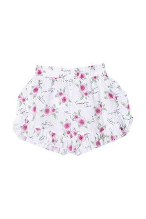 Shorts bianchi con stampa multicolor Monnalisa Kids Monnalisa kids   30   99740170599995