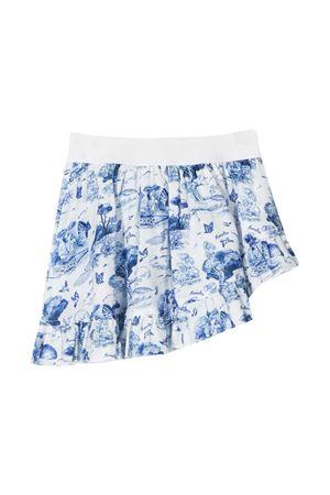 Gonna bianca con stampa blu Monnalisa Kids Monnalisa kids   15   99770070669954