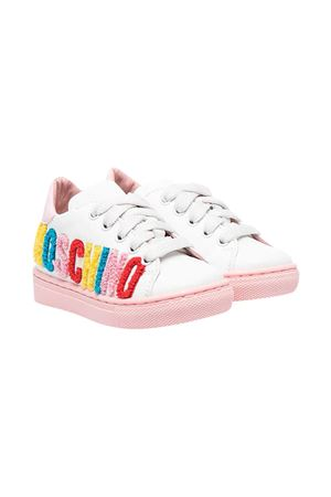 Moschino Kids white sneakers  MOSCHINO KIDS | 12 | 673871