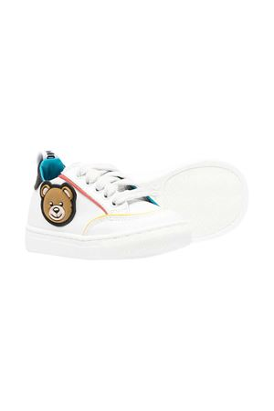 Moschino Kids white sneakers  MOSCHINO KIDS | 12 | 67394VAR2