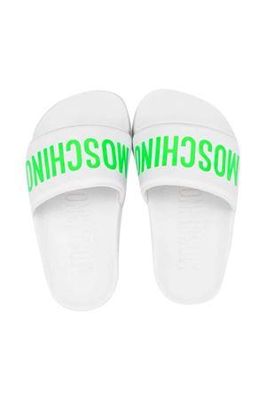 Moschino kids white slippers MOSCHINO KIDS | 11041766 | 675263