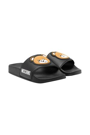 Moschino Kids black slippers  MOSCHINO KIDS | 11041766 | 675291