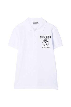 Moschino Kids white polo shirt  MOSCHINO KIDS | 2 | H6M01TLFA0110101