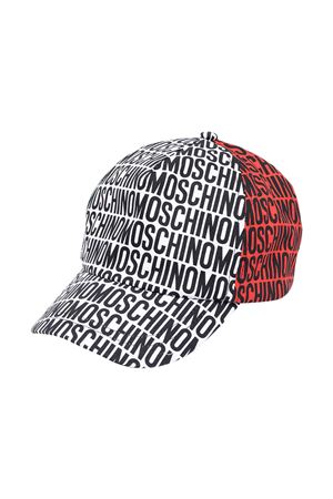 White, red and green hat with Moschino kids press MOSCHINO KIDS | 75988881 | H6X001L0A0083311