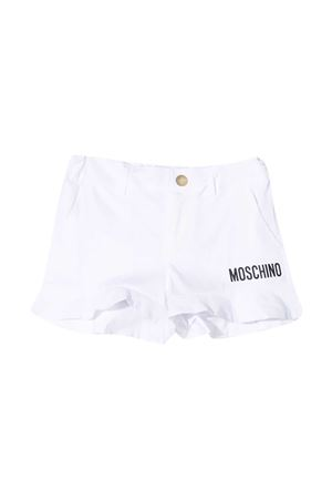 Shorts bianchi con logo Moschino kids MOSCHINO KIDS   30   HAQ001LMA0110101