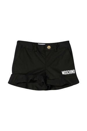 Shorts teen neri con logo Moschino kids MOSCHINO KIDS   30   HAQ001LMA0160100T