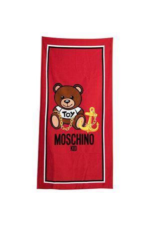 Beach towel with Moschino kids print MOSCHINO KIDS   616841551   HAX00WLGA1050109