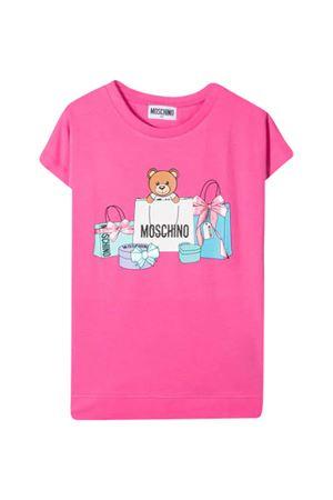 T-shirt rosa Moschino kids  MOSCHINO KIDS | 5032307 | HBM02VLBA0050533
