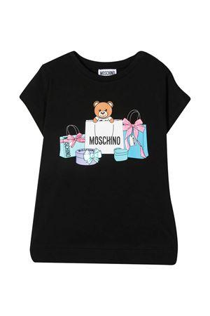 T-shirt nera teen Moschino kids MOSCHINO KIDS | 5032307 | HBM02VLBA0060100T