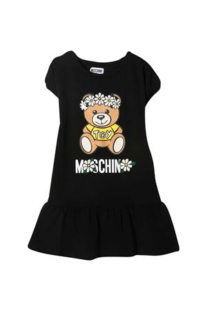 Black teen dress with toy print Moschino kids MOSCHINO KIDS   11   HBV07ELDA0060100T