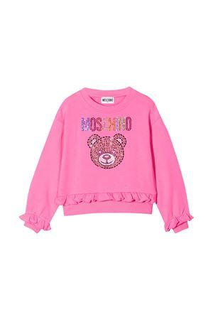 Felpa rosa Moschino kids MOSCHINO KIDS | 7 | HDF02ZLDA2550533