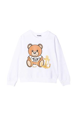 Felpa bianca Moschino Kids MOSCHINO KIDS   1169408113   HDF030LDA0010101