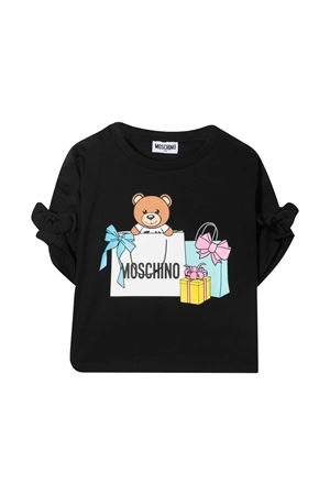 Black teen t-shirt with toy print Moschino kids MOSCHINO KIDS   8   HDM030LBA0060100T