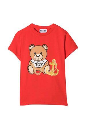 Red t-shirt teen Moschino Kids MOSCHINO KIDS | 8 | HDM03PLBA0050109T