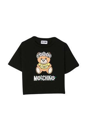 T-shirt nera con stampa toy Moschino kids MOSCHINO KIDS | 8 | HDM03QLBA0060100