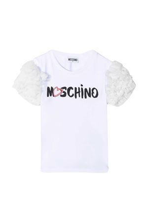 T-shirt bianca Moschino Kids MOSCHINO KIDS | 8 | HDM03RLBA0010101