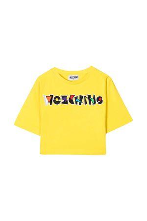 T-shirt gialla Moschino Kids MOSCHINO KIDS | 8 | HDM03ULBA1850162