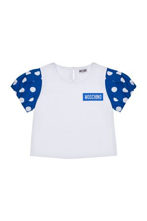 T-shirt con maniche Polka Dots Moschino kids MOSCHINO KIDS   8   HDM03VLBA0084226