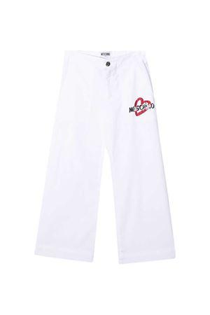 Pantaloni bianchi Moschino Kids MOSCHINO KIDS | 9 | HDP042LPC0010101