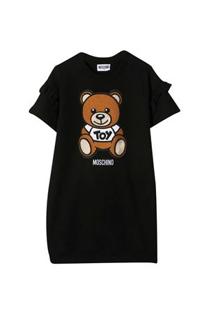Black teen Moschino kids t-shirt dress  MOSCHINO KIDS | 11 | HDV09XLDA0060100T