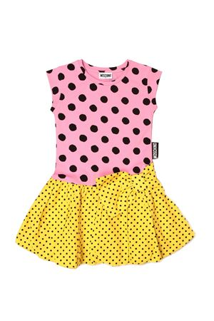 Moschino Kid dress with macro and micro polka dots MOSCHINO KIDS   11   HDV0A0LBB6884220