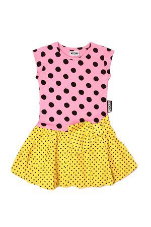 Moschino Kid teen dress with macro and micro polka dots MOSCHINO KIDS   11   HDV0A0LBB6884220T