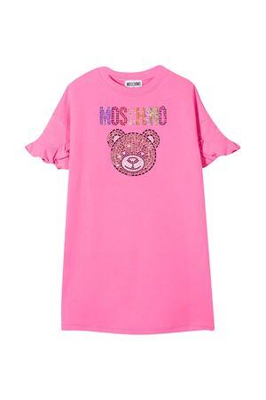 Abito rosa con applicazioni multicolor Moschino kids MOSCHINO KIDS | 11 | HDV0A1LDA2550533