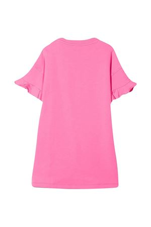 Pink dress with multicolor applications Moschino kids MOSCHINO KIDS   11   HDV0A1LDA2550533