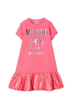 Pink teen dress with frontal logo Moschino kids MOSCHINO KIDS   11   HDV0ACLDA2551108T