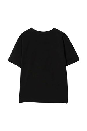T-shirt teen nera con applicazioni multicolor Moschino kids MOSCHINO KIDS | 5032307 | HFM02TLBA1060100T