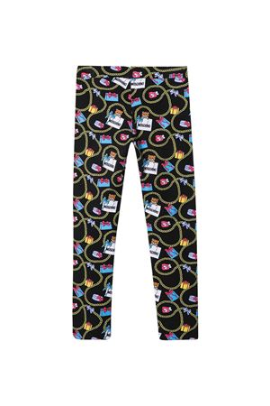 Leggins neri teen Moschino kids MOSCHINO KIDS | 411469946 | HKP03ULBB5283392T