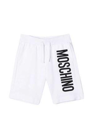 White teen Moschino kids bermuda MOSCHINO KIDS | 30 | HMQ007LDA2710101T