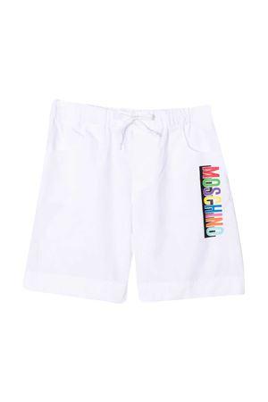 Bermuda teen bianco con stampa multicolor Moschino kids MOSCHINO KIDS | 5 | HMQ00ILLA0610101T