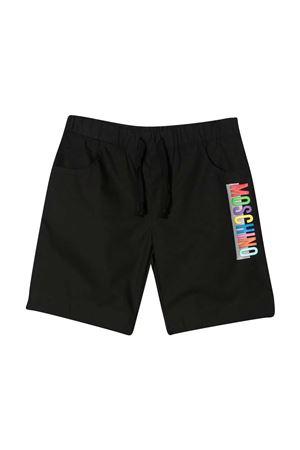 Bermuda nero con stampa multicolor Moschino kids MOSCHINO KIDS | 5 | HMQ00ILLA0660100