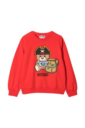 Red teen sweatshirt with toy print Moschino kids MOSCHINO KIDS | -108764232 | HNF043LDA1250109T