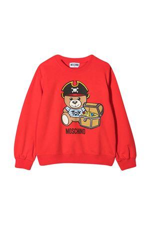 Felpa teen rossa con stampa toy Moschino kids MOSCHINO KIDS | -108764232 | HNF043LDA1250109T