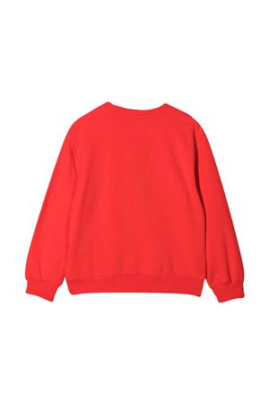 Red sweatshirt with toy print Moschino kids MOSCHINO KIDS | -108764232 | HNF043LDA1250109
