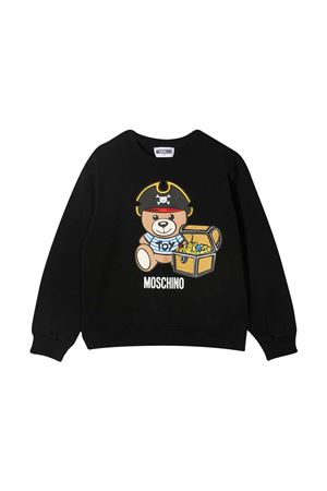 Black teen sweatshirt with toy print Moschino kids MOSCHINO KIDS | -108764232 | HNF043LDA1260100T