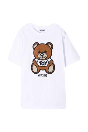 White t-shirt teen Moschino kids MOSCHINO KIDS | 5032307 | HOM02XLBA1010101T