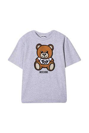 Moschino kids teen gray t-shirt  MOSCHINO KIDS | 5032307 | HOM02XLBA1060926T