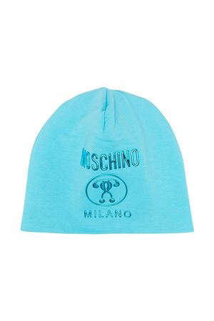 Light blue hat with logo Moschino kids MOSCHINO KIDS | 75988881 | HOX00ZLDA2540522
