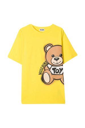 Moschino kids yellow teen t-shirt  MOSCHINO KIDS | 5032307 | HQM02XLBA1850162T