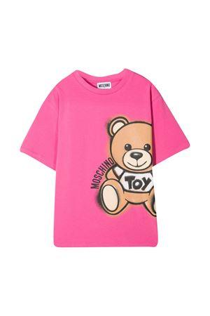 Moschino kids fuchsia teen t-shirt  MOSCHINO KIDS | 5032307 | HQM02XLBA1850533T