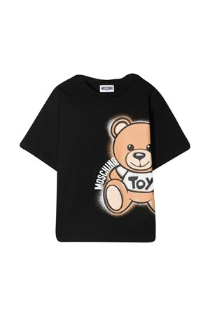 T-shirt nero teen Moschino kids MOSCHINO KIDS | 5032307 | HQM02XLBA1860100T