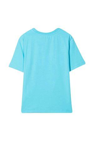 T-shirt azzurra con logo in rilievo Moschino kids MOSCHINO KIDS | 5032307 | HRM02XLBA1040522