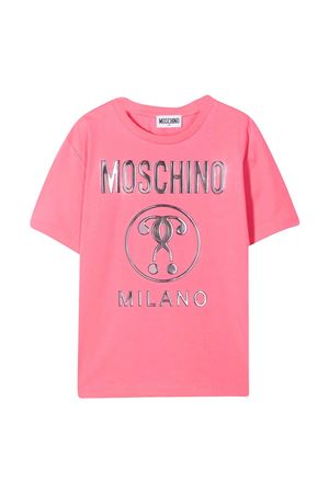 T-shirt rosa con logo in rielievo Moschino kids MOSCHINO KIDS | 5032307 | HRM02XLBA1051108