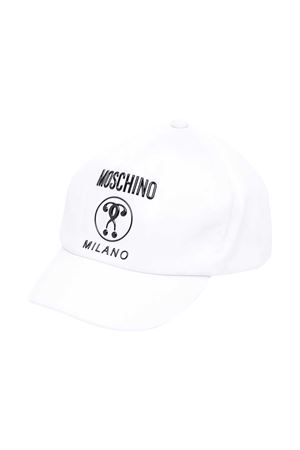 White teen visor hat with Moschino kids logo MOSCHINO KIDS | 75988881 | HTX001L0A0010101T